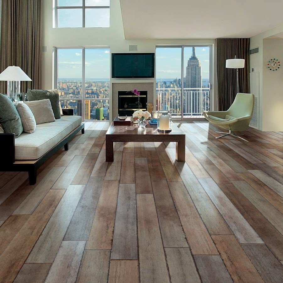 image result for living rooms with tile floors - Wood Tile Living Room