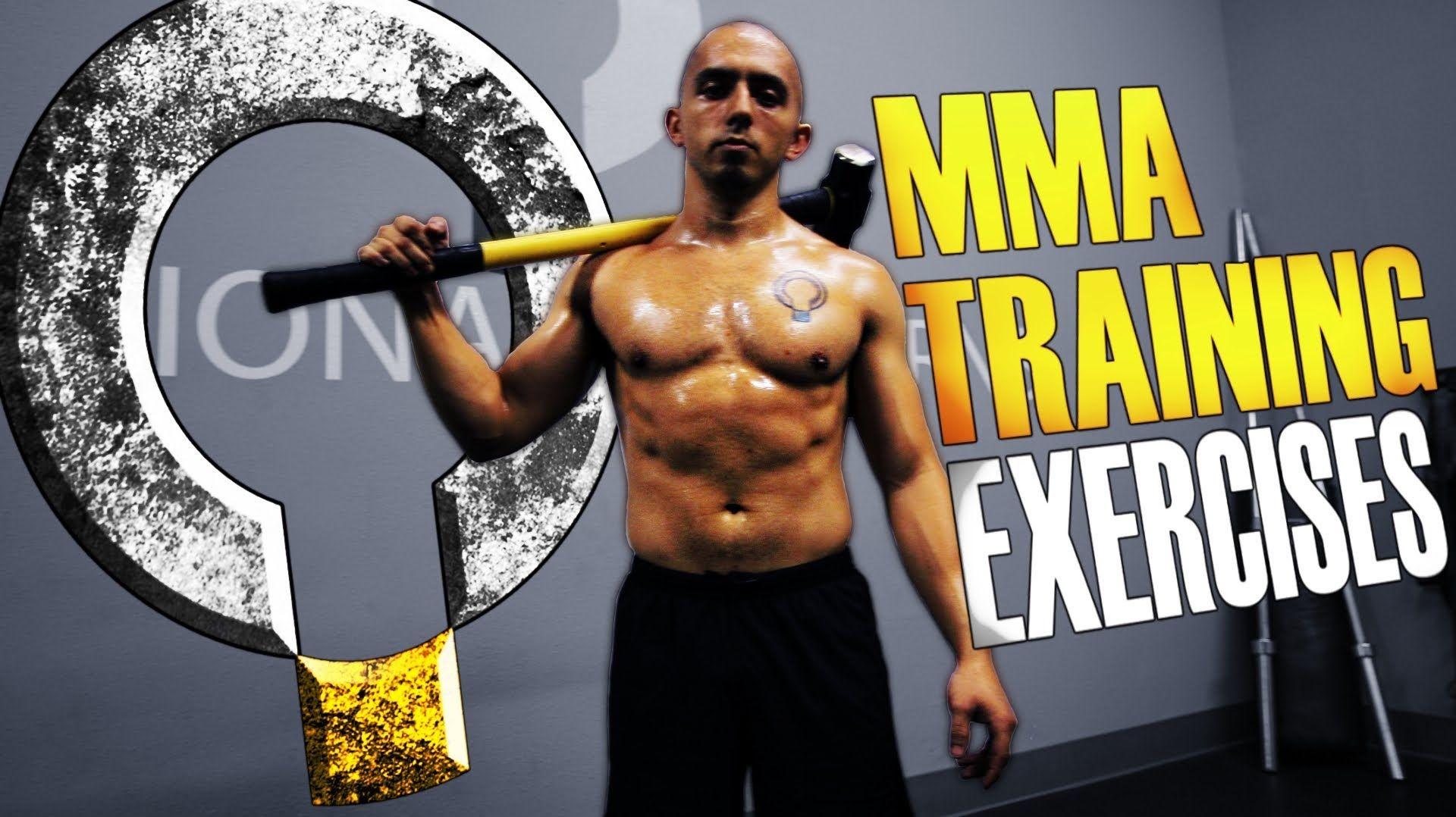 Extreme MMA Core Exercises with the Sledgehammer and Tire