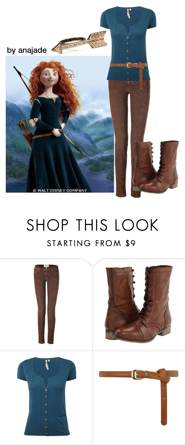"""""""Merida Brave"""" by anajade ❤ liked on Polyvore featuring Disney, Current/Elliott, Steve Madden, White Stuff, Dorothy Perkins and House of Harlow 1960"""