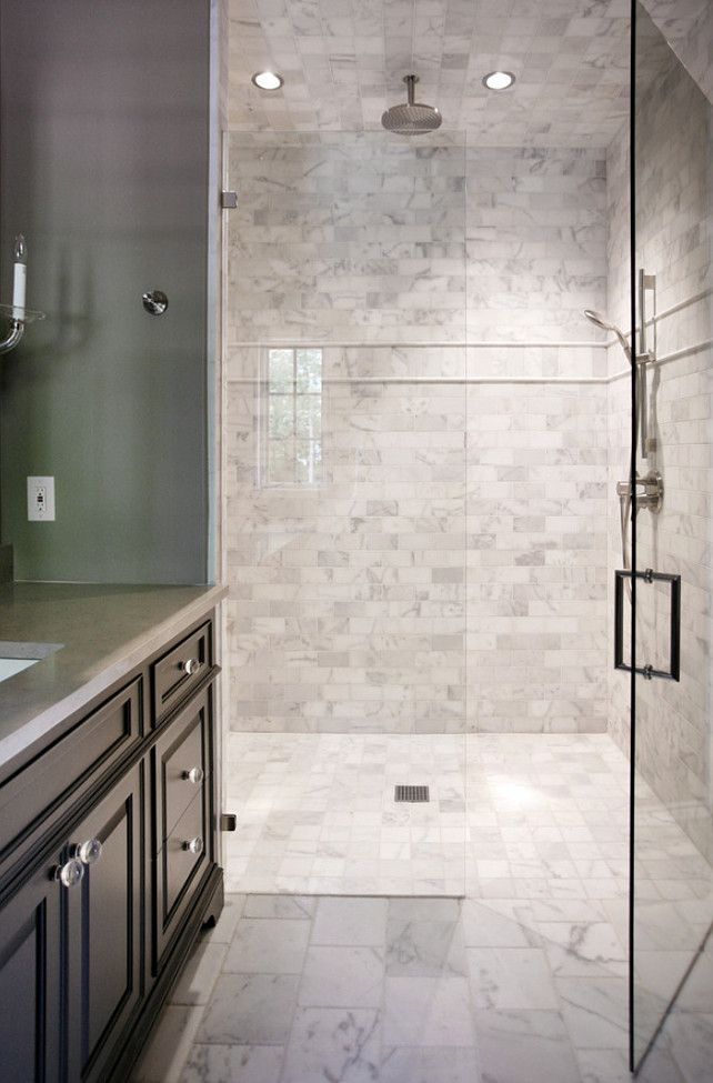 White Marble Tile Bathroom bathroom shower tiling. white marble 8 x 8 brushed & chiseled