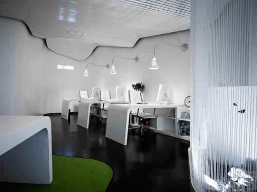 Futuristic Modern Office Designs With Images Modern Office