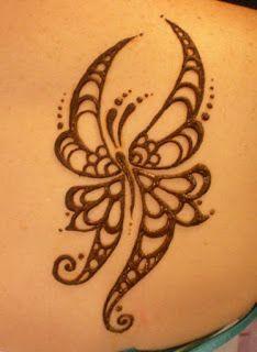 Mehndi Tattoo Designs Butterfly