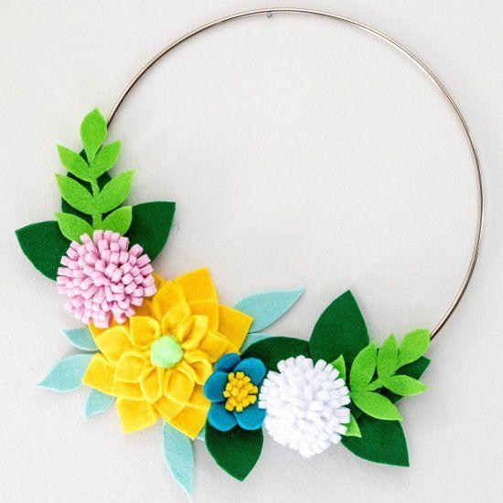 Felt Floral Wall Art Craftgawker