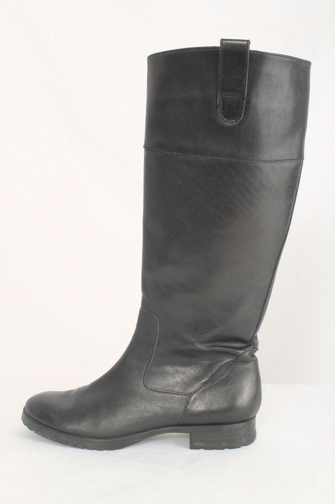 Lauren Ralph Lauren Size 7M Black Leather Riding Boots 705 B816  | eBay