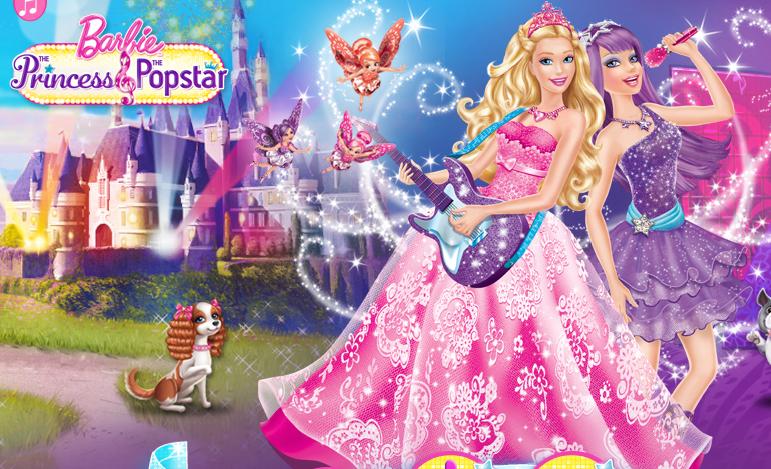 Barbiedollmovies Princess And The Popstar Barbie Song Barbie Movies Princess