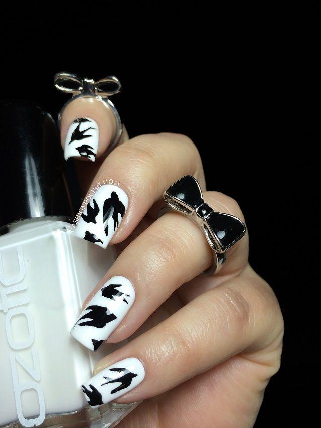 Ozotic Mr Big Swallow nail art! | Fashion Polish | Nails | Pinterest ...