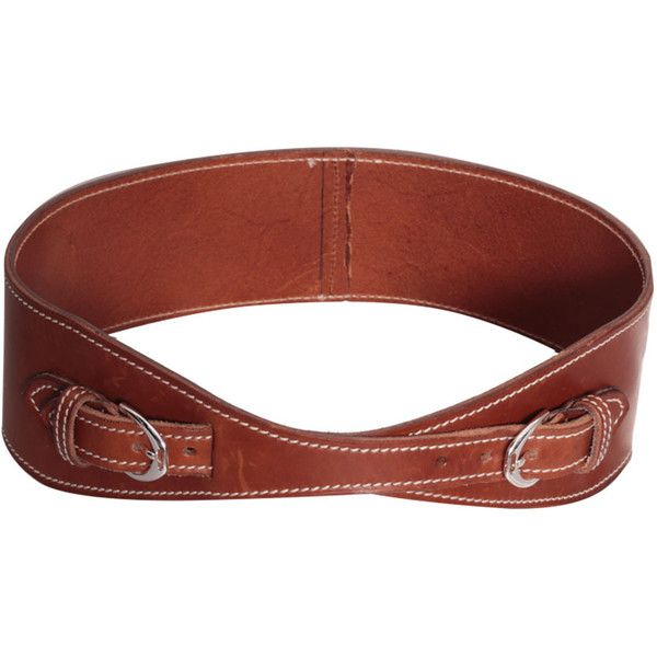 Ralph Lauren Leather belt ($351) ❤ liked on Polyvore featuring accessories,  belts,
