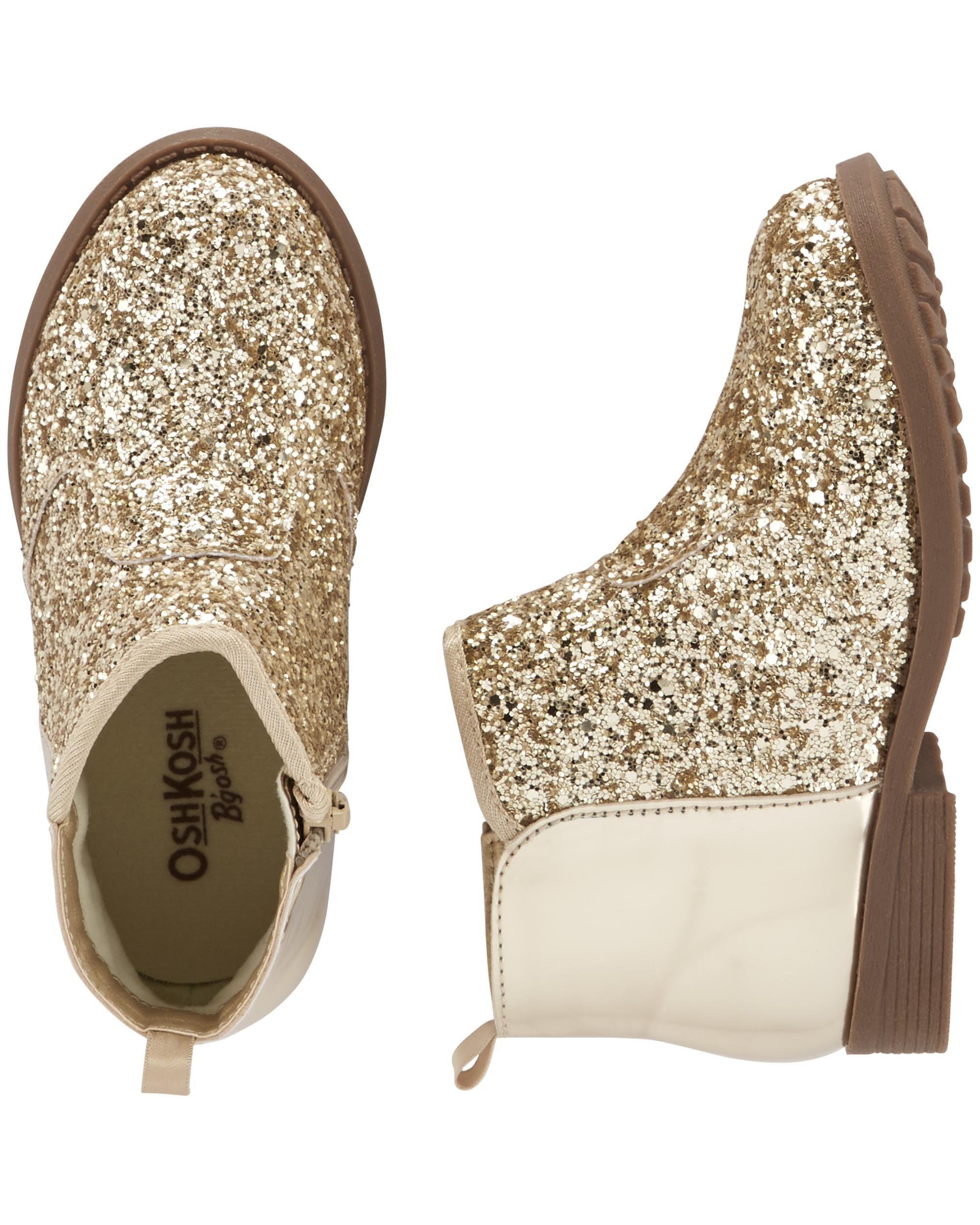 OshKosh Gold Glitter Ankle Boots