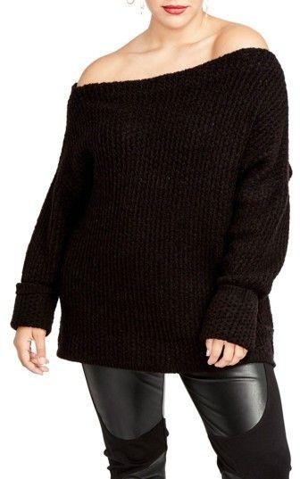 dfbfce196deda Plus Size Women s Rachel Rachel Roy Off The Shoulder Sweater  affiliatelink
