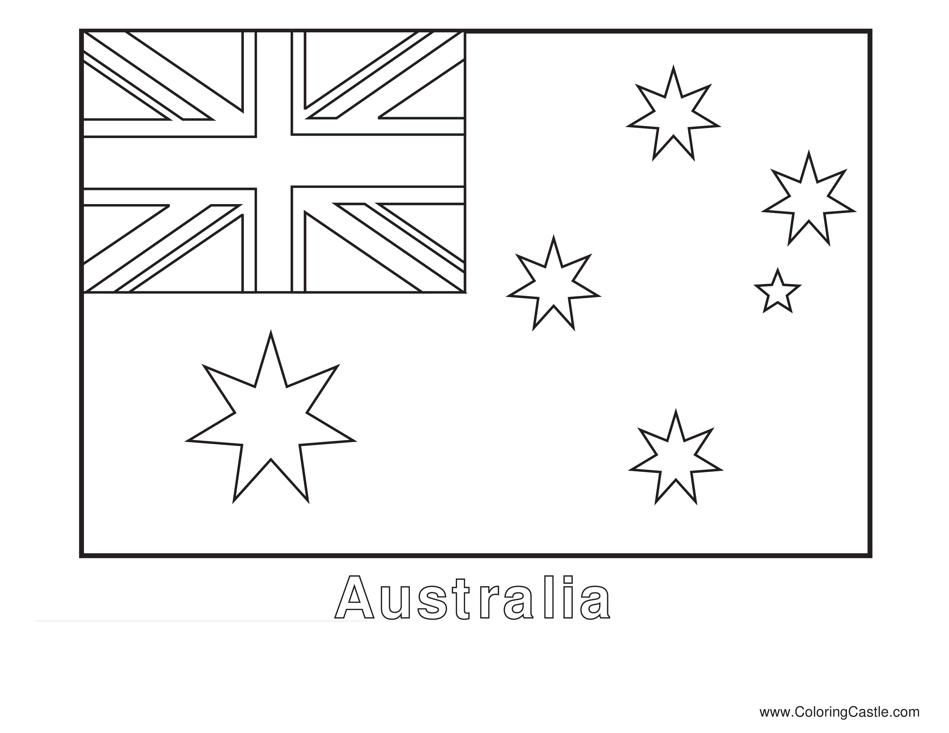 Colorsheet Flag Australia - Colorsheet Country Flag Australia ...