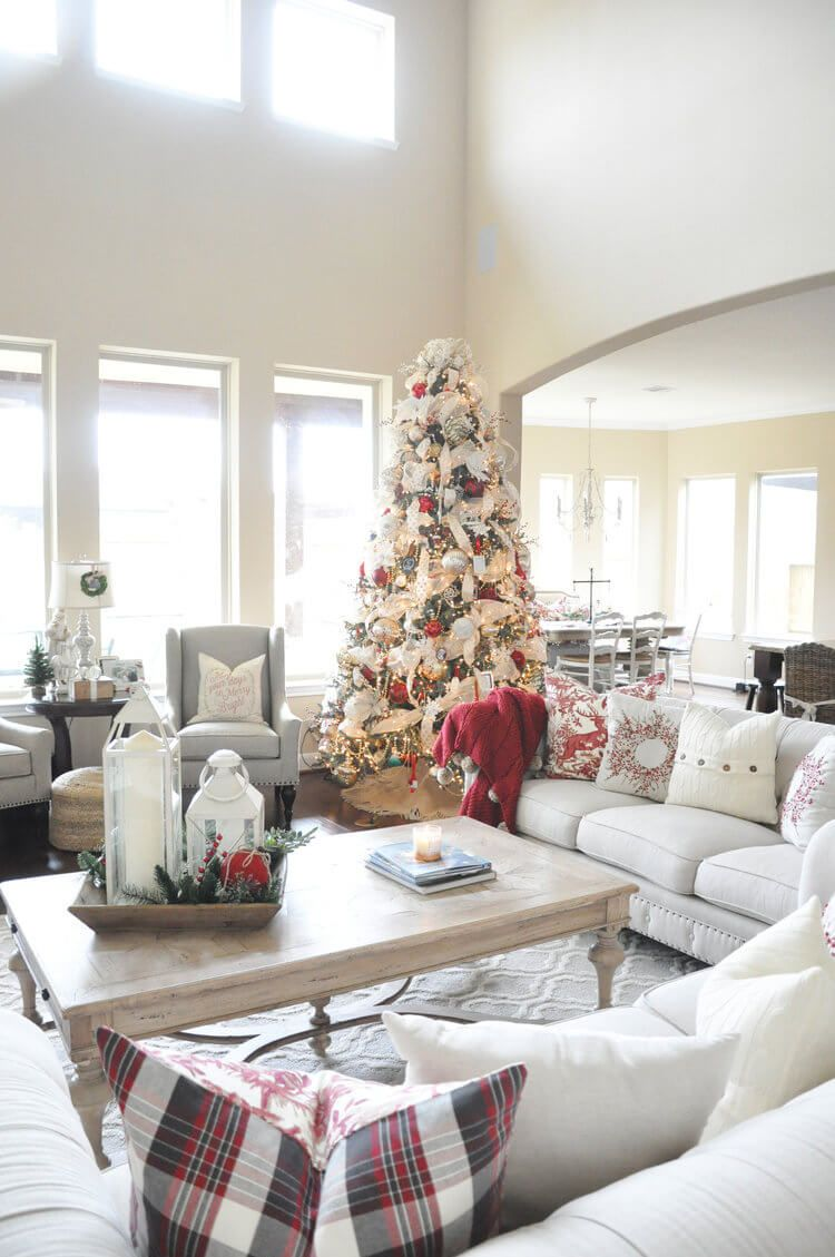 32 Gorgeous Ways to Decorate Your Living Room For Christmas ...