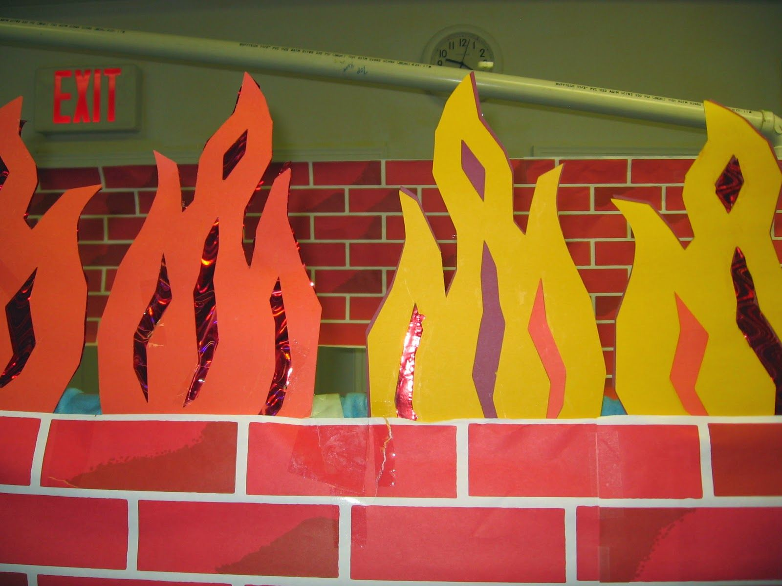 flames for the fiery furnace in daniel 3 instructions for making
