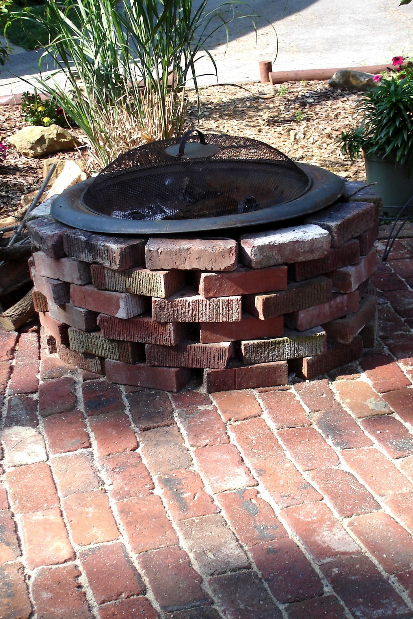 Antique Brick PatioDONE Great Ideas to make Pinterest