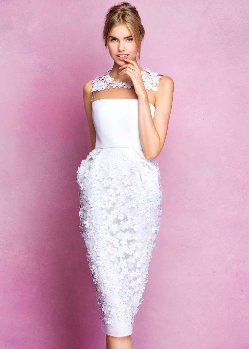 Abiti da sposa Angel Sanchez collezione 2017 - Abito a tubino con ...