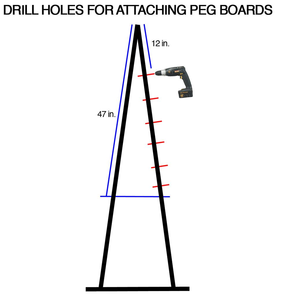 Picture of Drill Holes for Attaching the Peg Boards