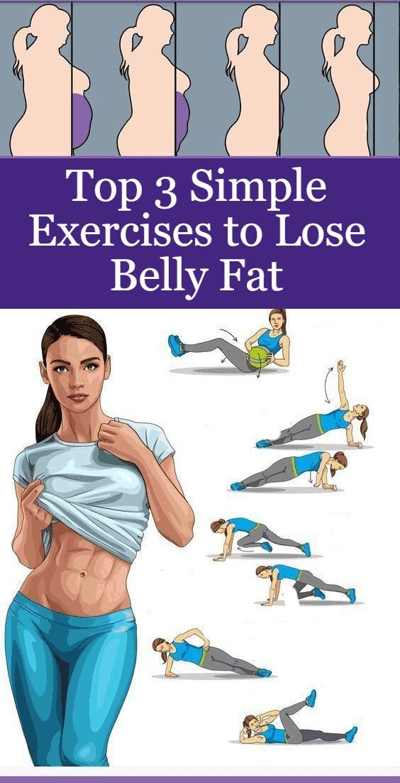 Top 3 Simple Exercises To Lose Belly Fat #fitnesschallenges