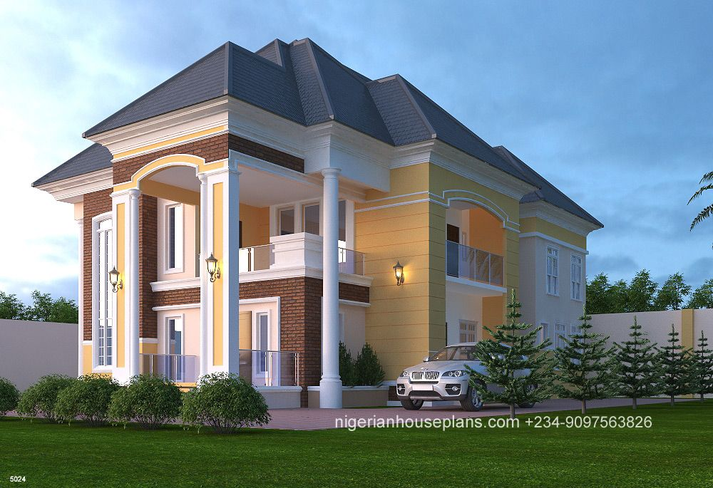 5 Bedroom Duplex Ref 5024 Building Plans House Building House Plans Designs Home Building Design