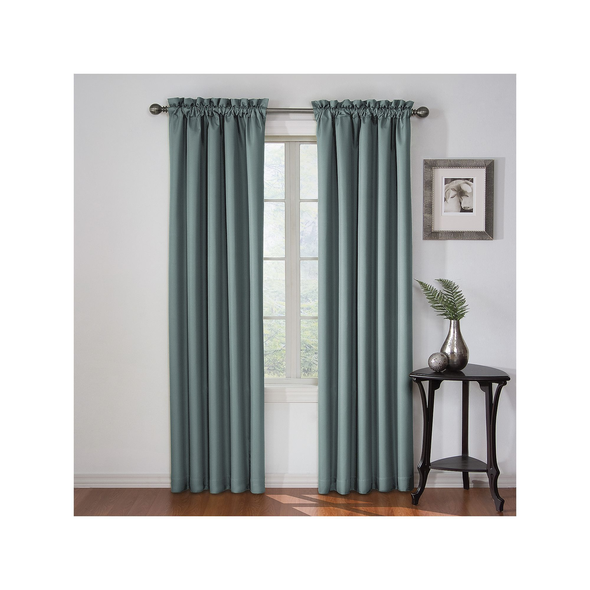 94 Inch Blackout Curtains Eclipse Corinne Thermaback Blackout Curtain Blue Products