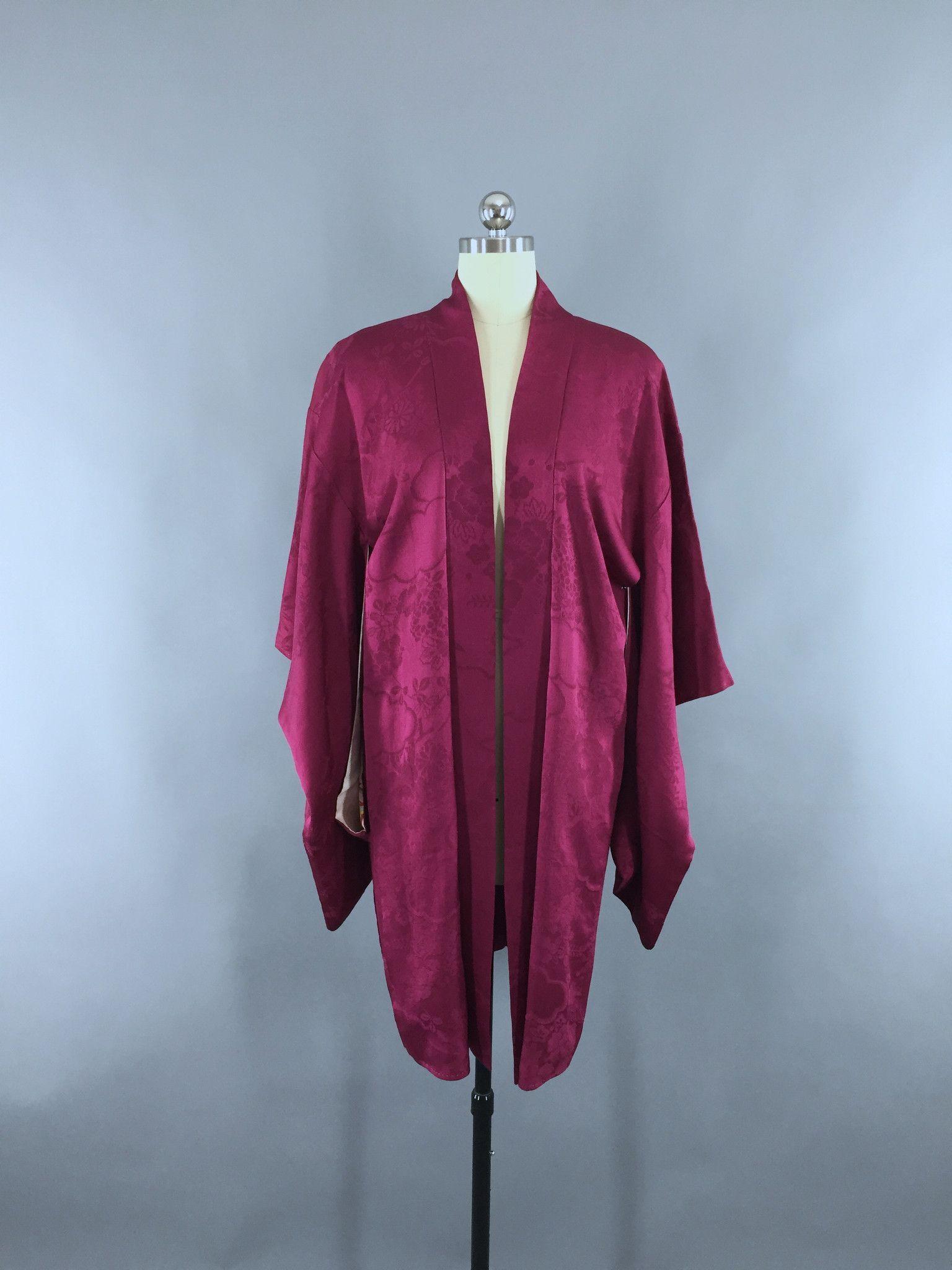 1920s Vintage Silk Kimono Jacket / Silk Haori Kimono Cardigan ...