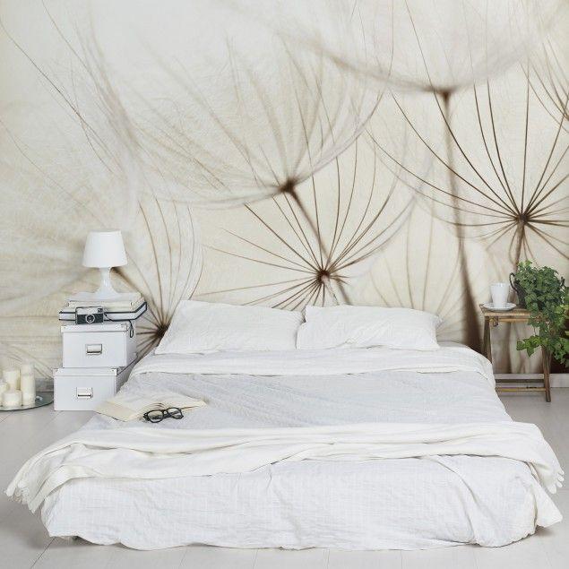 Vliestapete Premium - Blumentapete Sanfte Gräser Fototapete Breit - moderne tapeten schlafzimmer