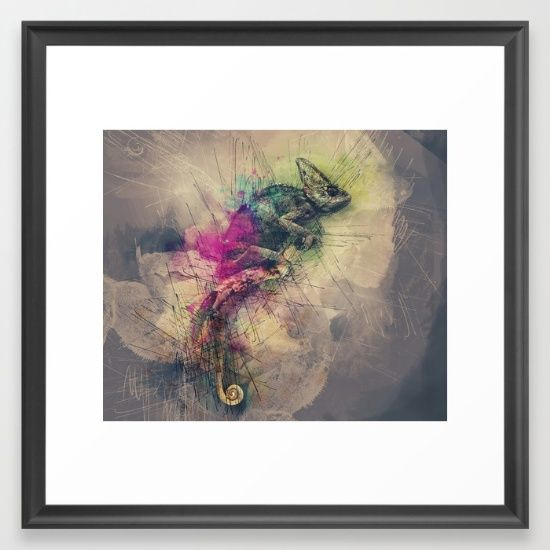 When i Dream of Chameleon Framed Art Print ,When i Dream of Chameleon by CHgraphicart