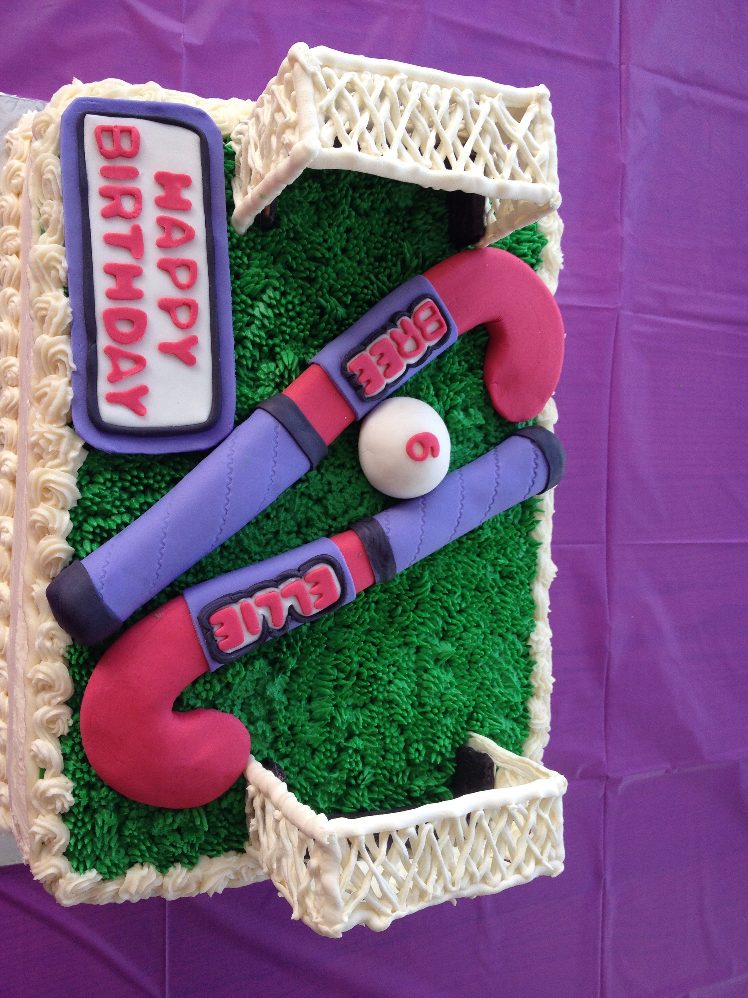 Field hockey birthday cake for Bree Ellies hockey pool party