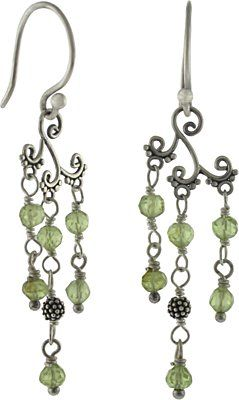 Silver Peridot Chandelier Earrings will add a touch of spring to any outfit. Make them with silver earring parts and jewelry making supplies from Nina Designs