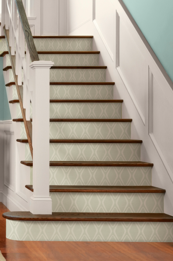 Guice Transform Diamond 18 L X 20 5 W Peel And Stick Wallpaper Roll In 2021 Wallpaper Stairs Diy Staircase Stair Makeover