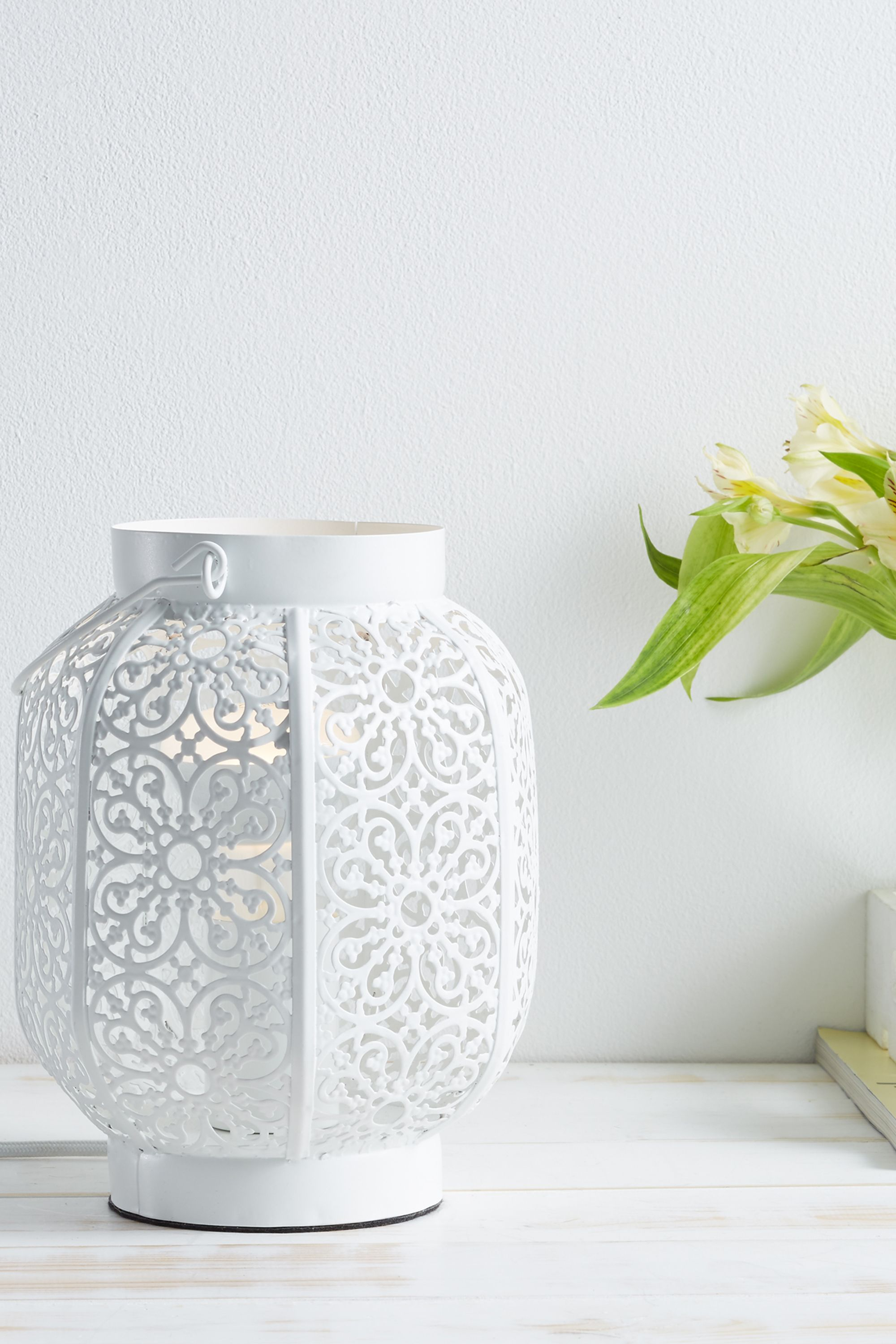 Cut Out Table Lamp   One Size   White   BHS   bedroom   Pinterest ...