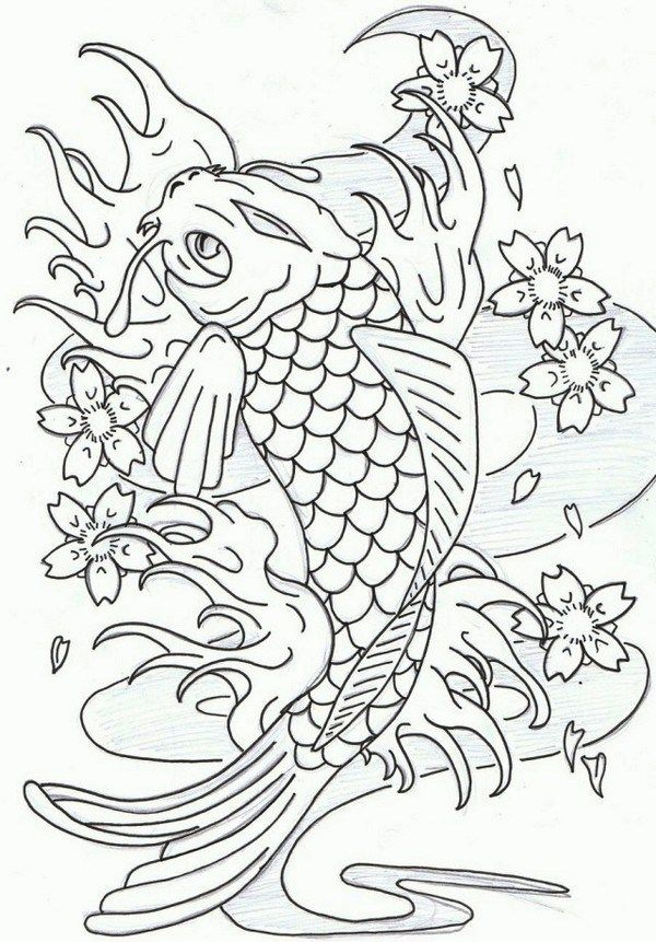 Koi Fish Coloring Pages Fish Coloring Page Animal Coloring Pages Dragon Coloring Page