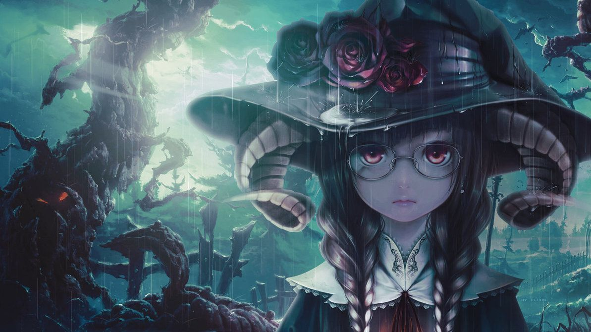 witches in anime wallpaper another witch anime girl by nagamii