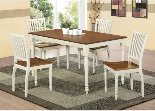 Monarch Antique White Oak 60 X 36 In Rectangle Dining Table Tables At Hayneedle