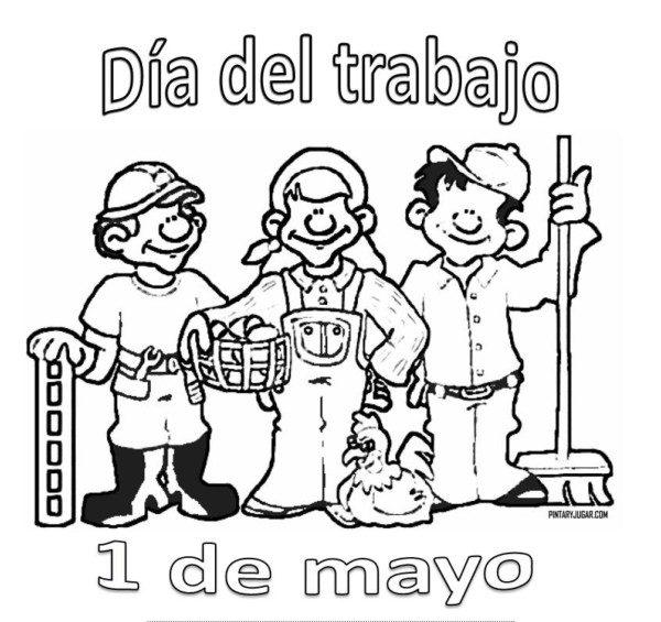 Imagenes Para Pintar Del 01 De Mayo Busqueda De Google Dia Del Trabajador Dia Internacional Del Trabajo Feliz Dia Del Trabajador