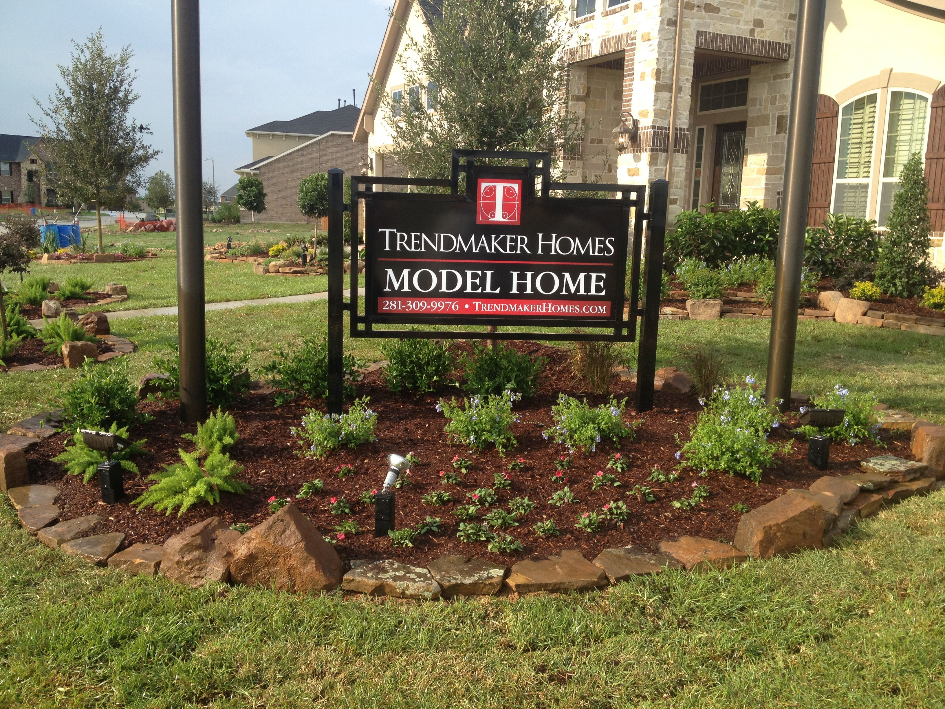 trendmaker model home sign my work pinterest