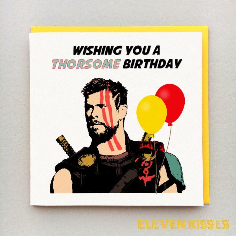 Thor Birthday Card Personalised Thor Card Thor Ragnarok Thor Card Birthday Card Avengers Marvel Birthday Cards Thor Birthday Birthday Card Sayings