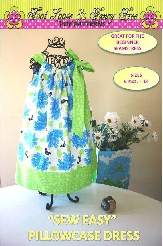 Sew Easy Pillowcase Dress Pattern - INSTANT DOWNLOAD - PDF Pattern - Size 6 mos baby -14 child Sewing Pattern & Sew Easy Pillowcase Dress Pattern - INSTANT DOWNLOAD - PDF Pattern ... pillowsntoast.com