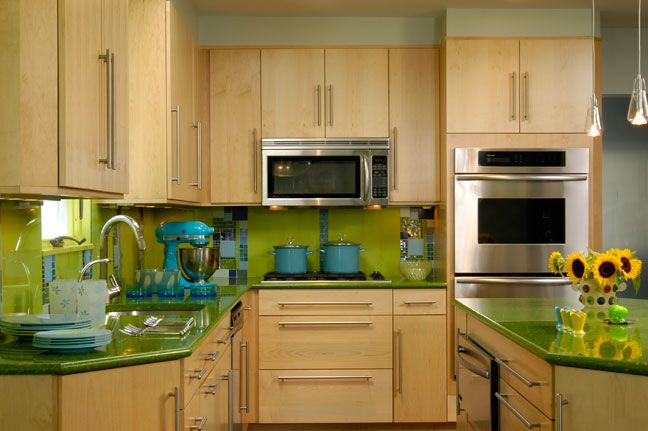 Kitchen Design By Ken Kelly Unique Crazy Bright But I Love This Green Kitchen Designsken Kelly Inspiration