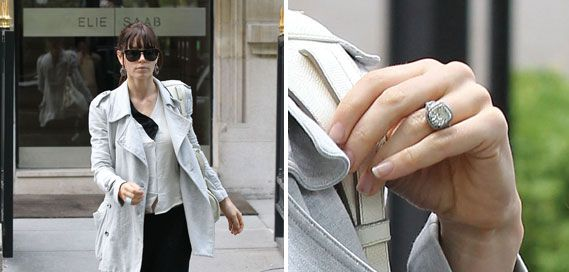 Jessica Biel's engagement ring from Justin Timberlake