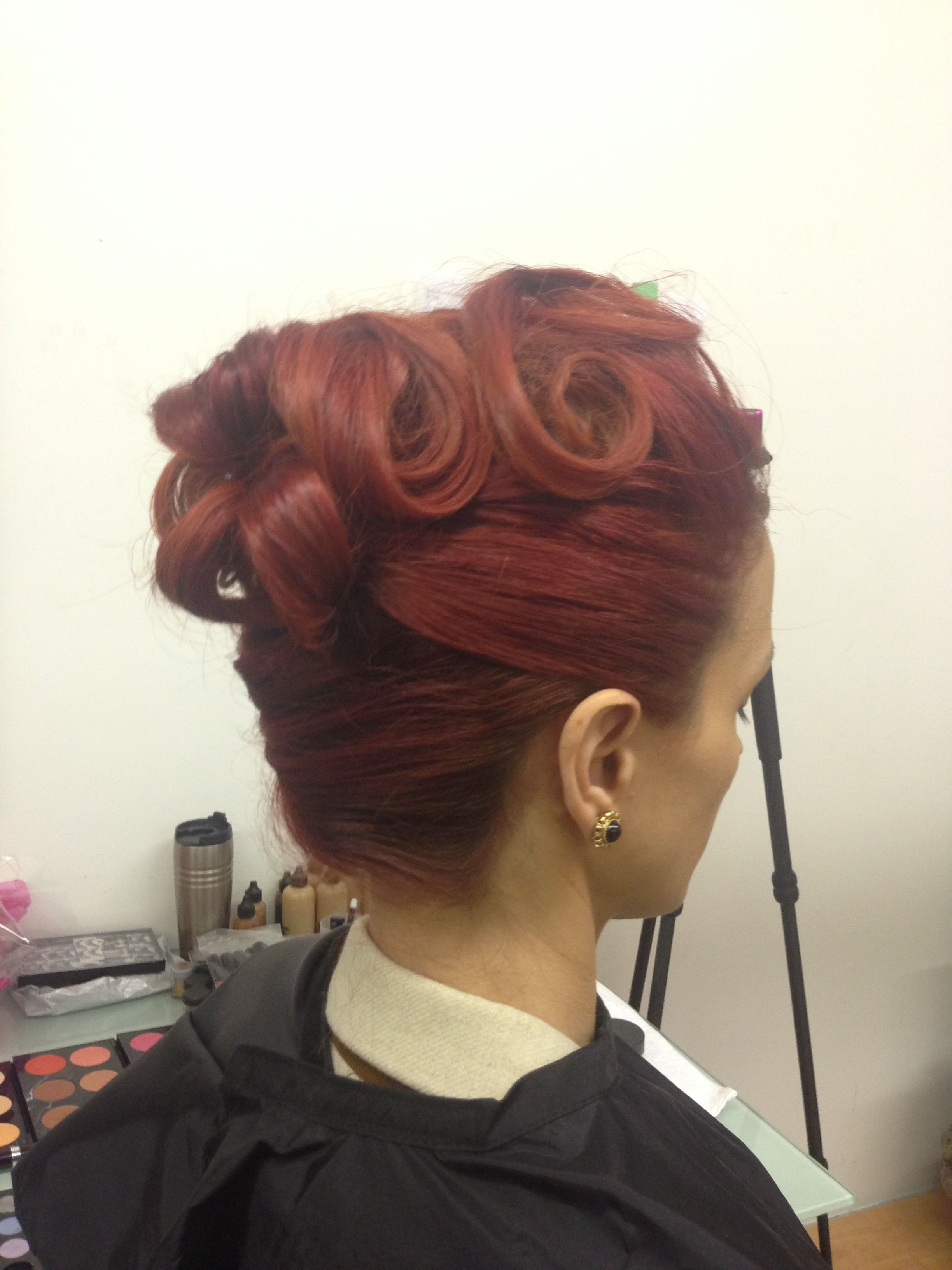 Classic Retro Updo - Makeup and Hair by Kayana Beauty Trends www.kayanabeautytrends.com