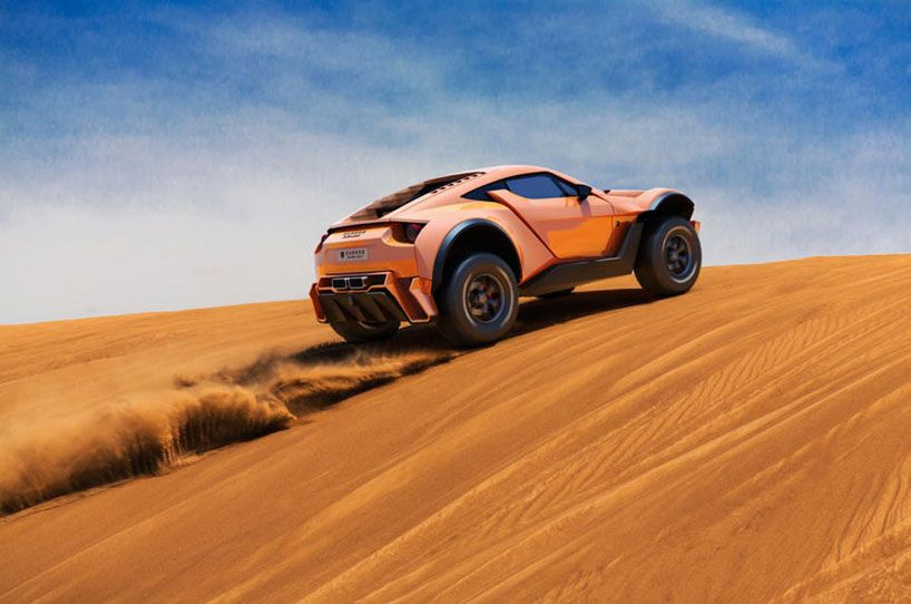 24+ Off road supercar background