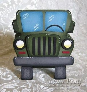 Templates for a jeep, hummer or military vehicle.