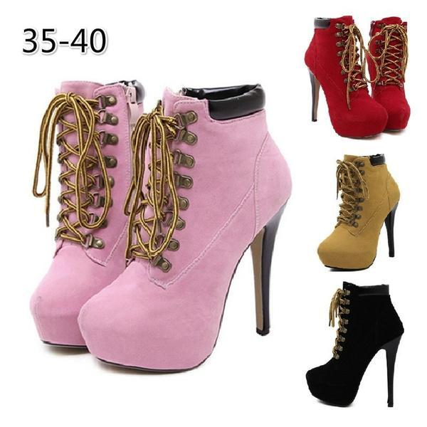 Sarairis Zip Up Plus Size 33 46 Buty Na Platformie Buty Damskie Botki Buty Na Wysokim Obcasie Buty Damskie Kupic W Winter Shoes For Women Heels Winter Shoes