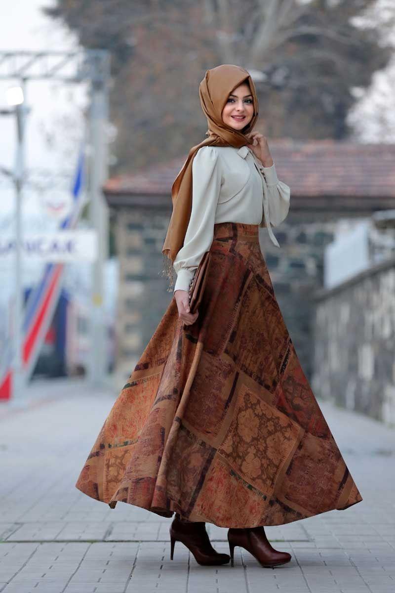 Pınar Şems mine verev etek hardal hijab look pinterest prom