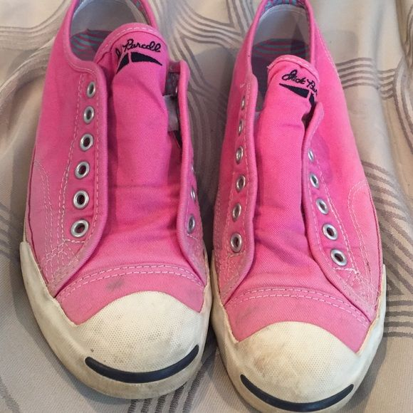 4e41caf57c06 Pink Jack Purcell Converse Faded pink jack Purcell converse sneakers  Converse Shoes Sneakers