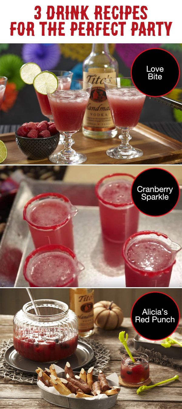Attending an adults-only party this Halloween? These 3 drink recipes are sure to liven up the festivities! We've partnered up with Tito's Handmade Vodka to add some tasty cocktails to our party planning ideas.