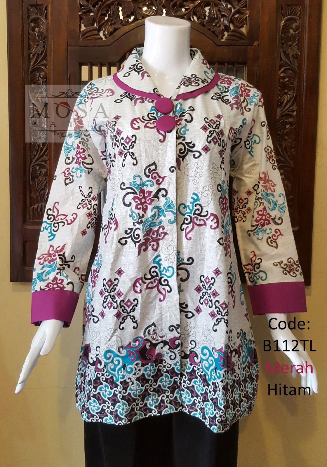 Model Baju Batik Wanita Lengan Panjang Untuk Kerja (Dengan