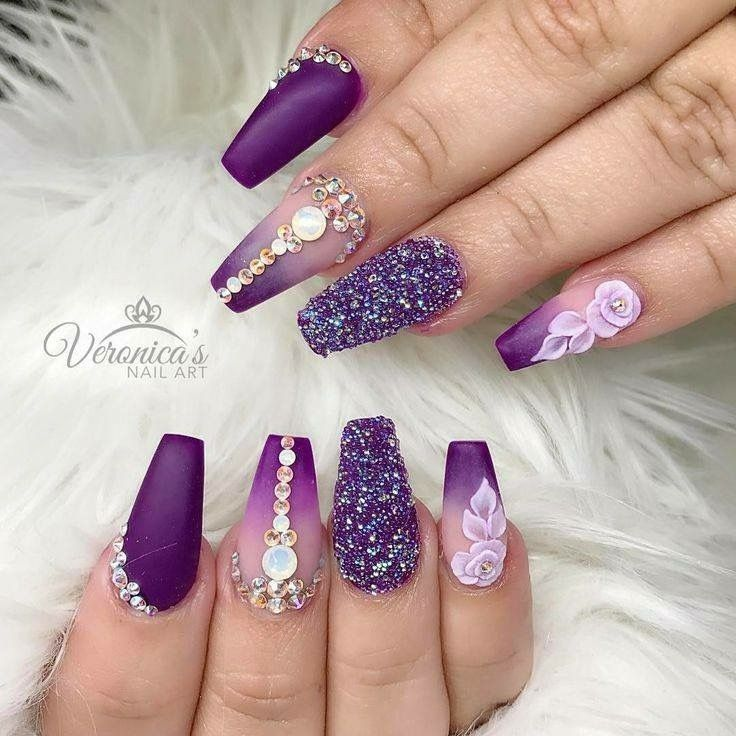 Just the purple ombre though 😍 - Pin By Nguyệt Nguyễn On Nail Pinterest Pedicure Nail Designs