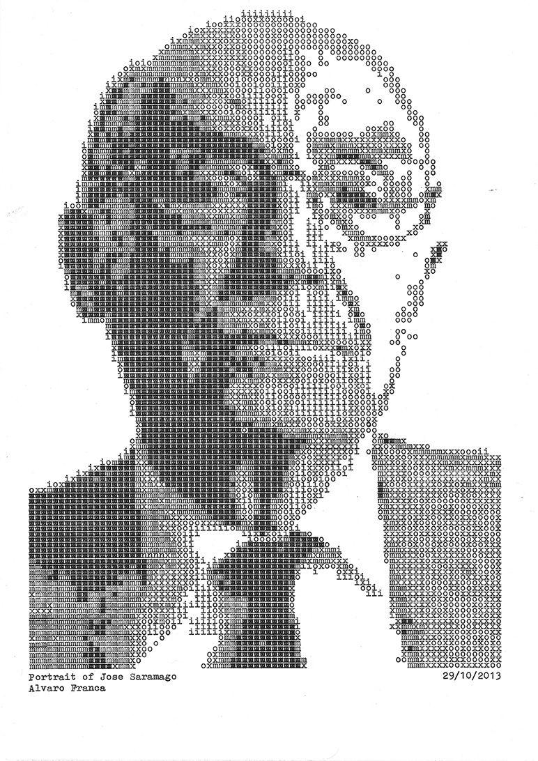 Typewritten Portraits of Famous Authors Adds Unique Detail - 8 pictures - Alvaro Franca
