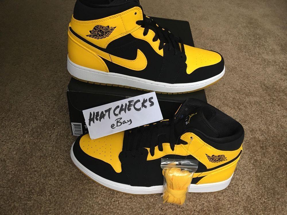 1b3c1c5e618 eBay #Sponsored Air Jordan Retro 1 Mid New Love Varsity Maize 554724-035 New  Yellow Sz 12 pack