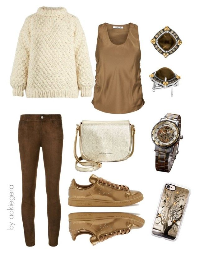 """Chocolate"" by aakiegera on Polyvore featuring мода, I Love Mr. Mittens, Helmut Lang, Paige Denim, Casetify, Tommy Hilfiger, adidas и Phillip Gavriel"